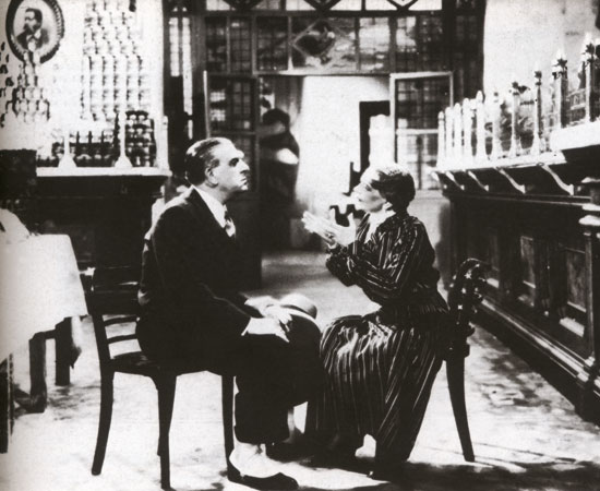 "A scene from the movie ""Felicita e Colombo"" recorded in Peck shop in 1937"