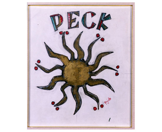 Peck's first sun-shaped logo
