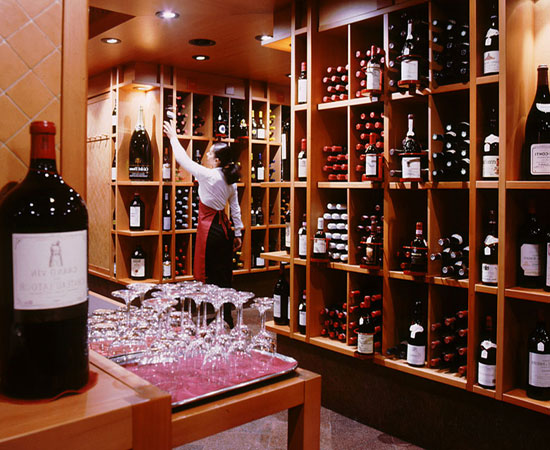 A view of the wine shop