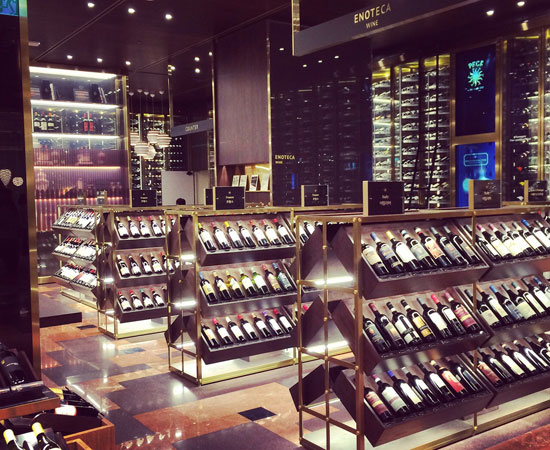 The wine area into Peck shop in Seoul