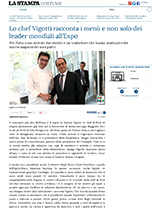 Lo chef Vigotti racconta i menù all'Expo