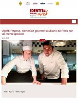 Vigotti-Reposo, gourmet Sunday at Peck, Milano, with a special menu
