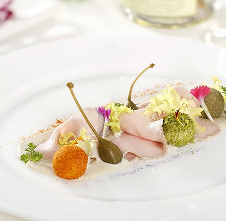 Veal in rainbow tuna sauce Ristorante Al Peck