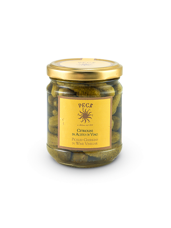 Pickled gherkins in wine vinegar 200 g
